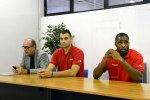 Pallacanestro Trieste:Mario Ghiacci con Will Harris e Dane DiLiegro